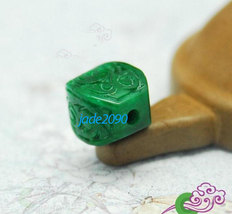 Free Shipping - good luck  Natural green jade box pendant charm jade Pen... - $19.99