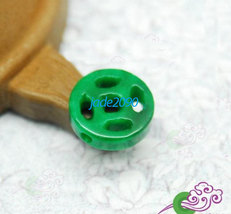 Free Shipping - good luck  Amulet Natural green jade carved Health penda... - $19.99