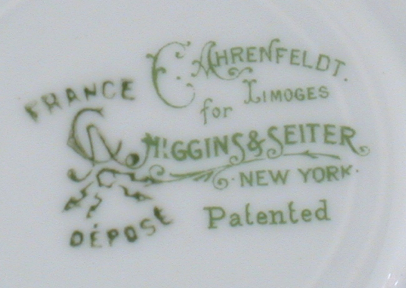 C Ahrenfeldt Limoges Higgins & Seiter Saucer Rose Garland