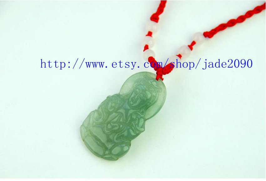 Primary image for Free shipping - Real green jadeite jade ,  Natural green jade carved Buddhist Bo