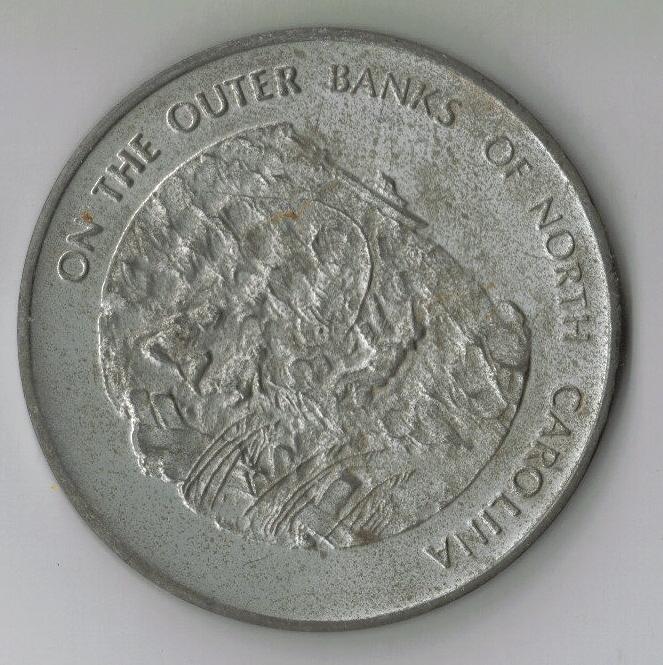 Large Commemorative Cap Hatteras National Seashore Coin!