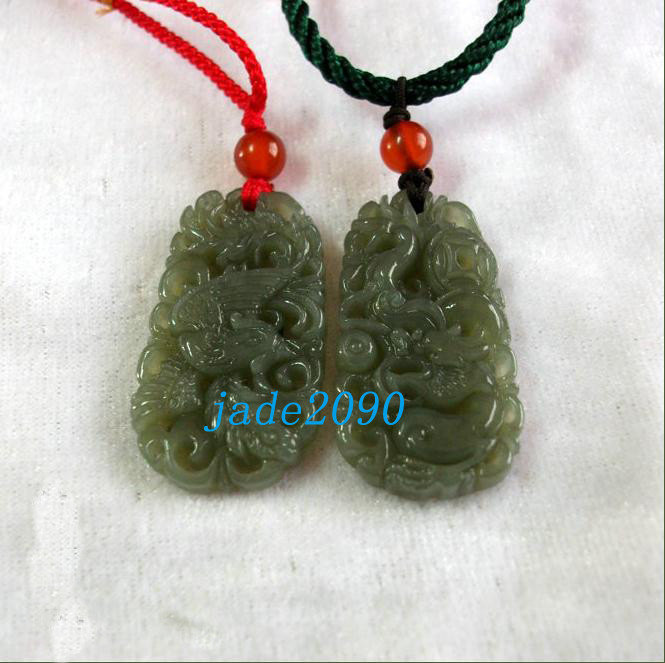 Primary image for Free Shipping - real green jade , Good luck Hand- carved AAA Natural green Drago