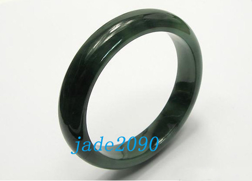 Primary image for FREE SHIPPING - AAA Grade Natural dark green  jade bangle (  custom size Diamete