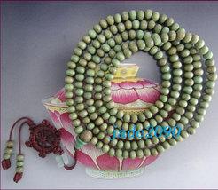 Free Shipping - 7 mm Tibetan Buddhism  Natural green sandalwood meditation yoga  - $19.99