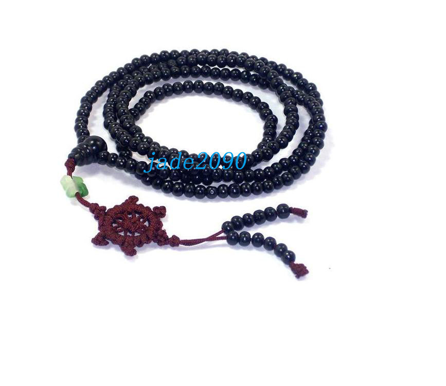 Primary image for Free Shipping - 216 Beads natural black sandalwood meditation yoga Prayer beads