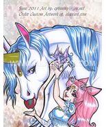 Sailor Moon ChibiMoon & Pegasus Pearls Signed Limited Edition Print Fan ... - $16.99