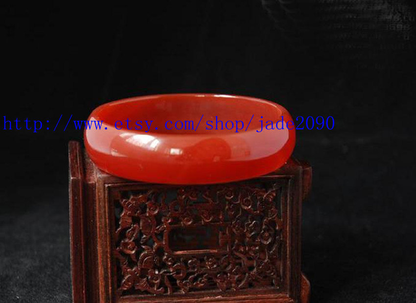 Primary image for Free Shipping -  Natural Red jade jadeite Round shape charm jade Bangle - jade20