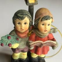 "Hummel Christmas Ornament Wintertime Duet Carolers Singers Dog 3.5"" 9354... - $45.00"
