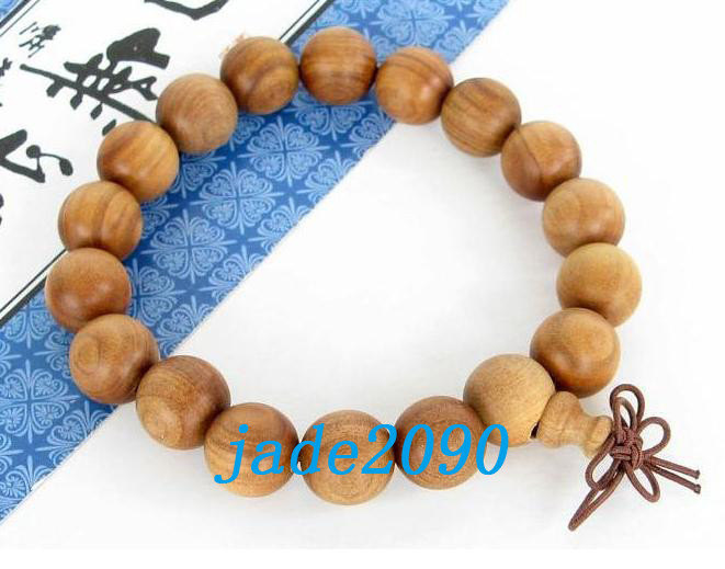 Primary image for Free Shipping - Tibetan Buddhism natural yellow sandalwood Prayer Beads charm br