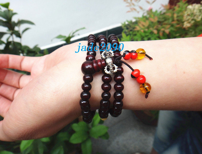 Primary image for Free Shipping -  7 mm  prayer beads mala , Tibetan Buddhism Real Natural red san