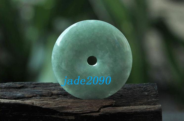 Primary image for Free Shipping - Nice Real Natural green  jade Blessing Ring jade Pendant charm -