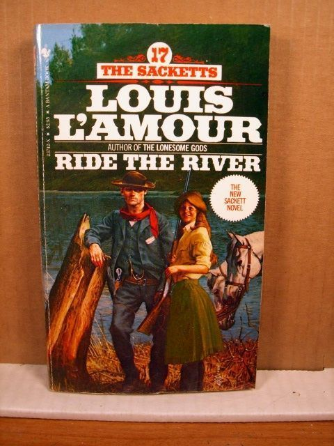 Paperback Louis L'Amour, Ride the River, 1983