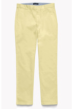 New Mens Tommy Hilfiger Custom Fit Flat Front Sand Khaki Chino Pants 38 X 30 - $31.67
