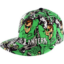 Green Lantern: Comic Art Hal Jordan Print Flat Bill Cap Brand NEW! - $29.99