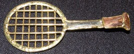 "Tennis Racket Raquet Pendant Pin 4"" Artisan Art Jewelry - $17.15"