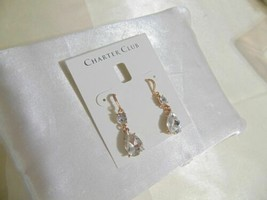 Charter Club Rose Gold-Tone Crystal Drop Earrings R555 - $11.51