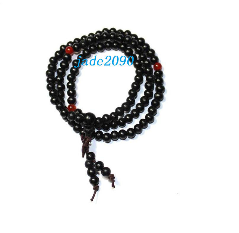 Primary image for Free Shipping - 100% Natural black sandalwood meditation yoga 108 Prayer Beads M