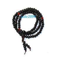 Free Shipping - 100% Natural black sandalwood meditation yoga 108 Prayer Beads M - $19.99