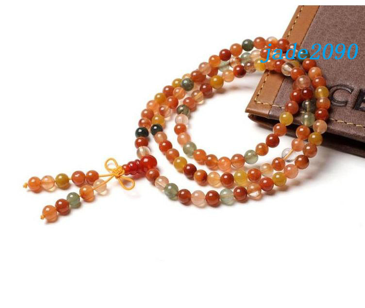 Primary image for Free shipping - Tibetan natural Red Aventurine jade Yoga Meditation 108 beads Pr