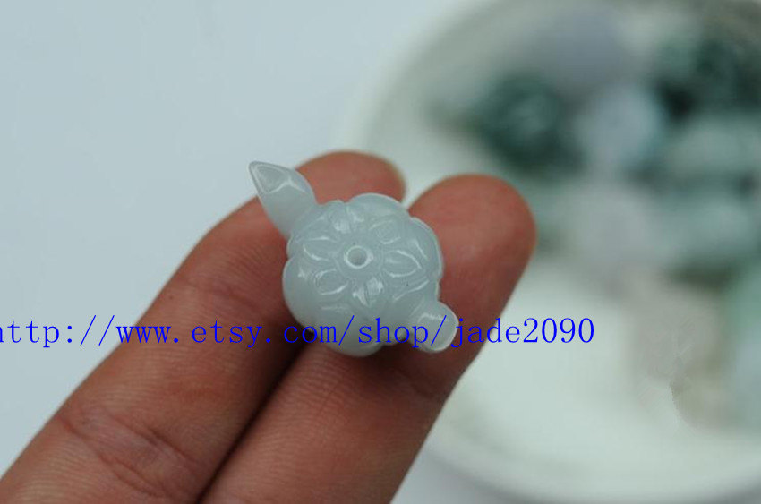 Primary image for Free shipping - good luck Real natural  White jadeite jade Teapot charm jade pen