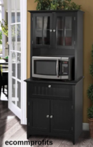 Tall Kitchen Cabinet Microwave Stand Storage Drawers Doors Shelf Home Fu... - $333.78