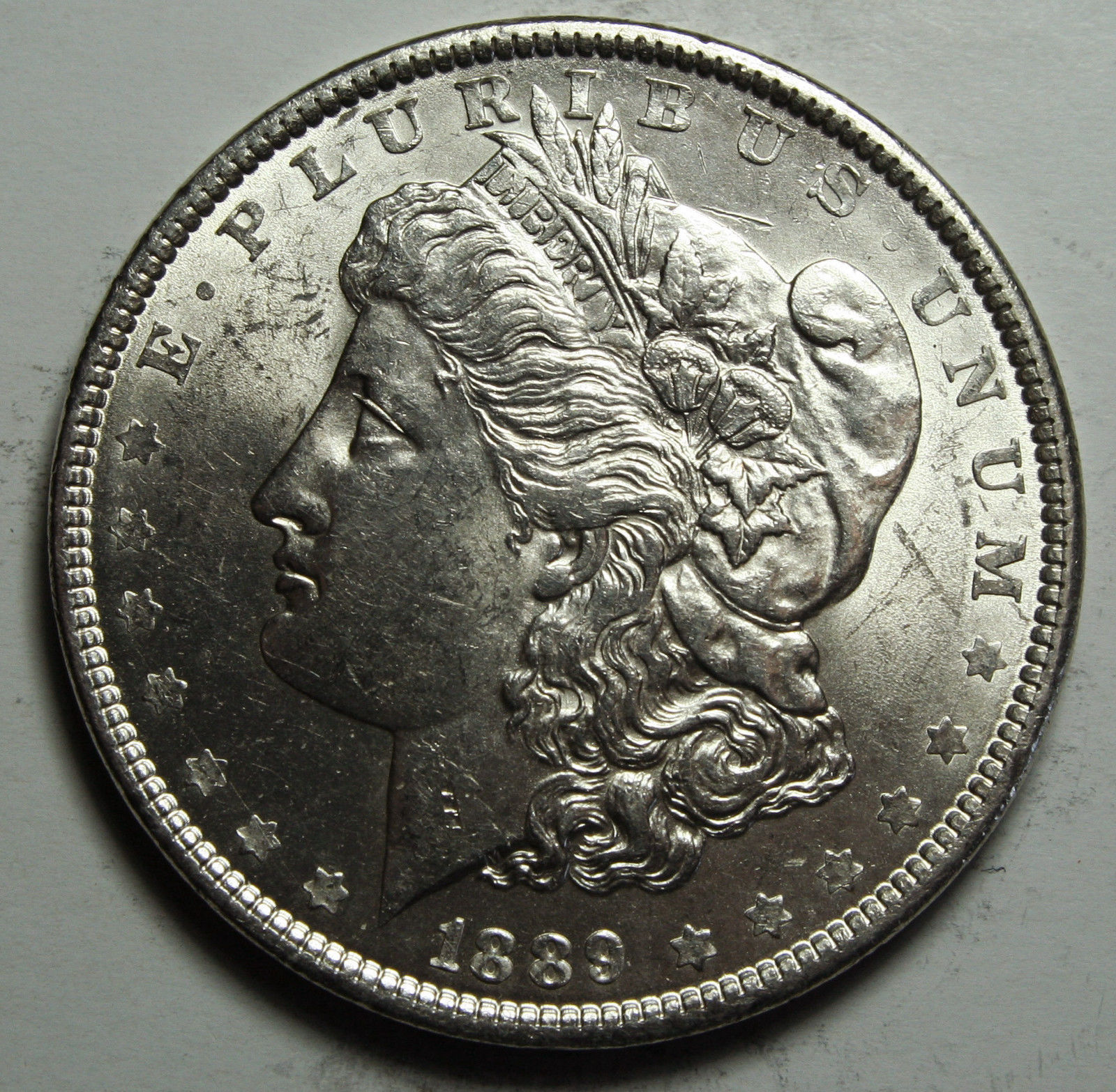 1889 MORGAN SILVER DOLLAR COIN Lot# D 44