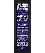 """Personalized Phoenix Suns """"Family Cheer"""" 24 x 8 Framed Print - $39.95"""