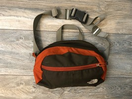 The North Face Crossbody Fanny Pack In Brown With Deep Orange Accent - $39.60