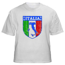 New Italy Italia Shield Azzurri Youth Kids Large Soccer Calcio Training T-shirt - $14.85