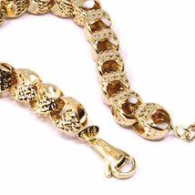 18K ROSE GOLD BRACELET, BIG ROUNDED DIAMOND CUT OVAL DROPS 6 MM, ROUNDED image 4