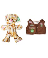 "Build A Bear UNSTUFFED 15"" Girl Scouts S'mores Campout Bear Plush Toy with Br... - $64.30"