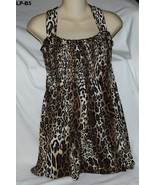 Only Nine Size Large Leopard Print Top Made in USA  NWT - $10.99