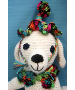 Pet Sets Dog Cat Clown Hat & Ruffle Collar Bright Neon Color Handmade Cr... - $18.00