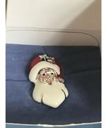 Estate Avon Enamel SANTA CLAUS Head Christmas Holiday Lapel or Hat Pin o... - $13.99