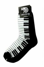Ladies PIANO Keyboard Socks Size 9-11 Black/White Great Music Gift NWT - $12.49