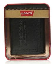 NEW LEVI'S MEN'S PREMIUM LEATHER CREDIT CARD ID WALLET TRIFOLD BLACK 31LP1122 image 5
