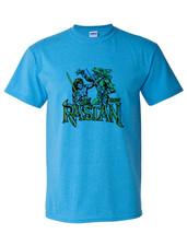 Rastan T-shirt retro 1980s arcade video game vintage Heather Blue graphic tee image 2
