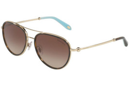 dac8c568445 Tiffany  amp  Co Sunglasses TF3059 60913B Havana Gold Frames Brown Lens  55MM - £164.59