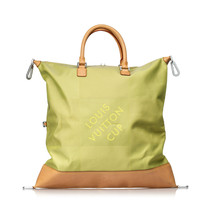 Pre-Loved Louis Vuitton Green Damier Geant Americas Cup Cube Travel bag ... - $763.96