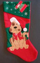 DOG CHRISTMAS STOCKING Pet Holiday Puppy Felt NEW - $6.99