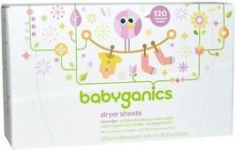BabyGanics, Dryer Sheets, Lavender, 120 Fabric Softener Sheets - $17.74