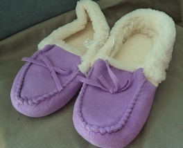 Bobbie Brooks Ladies Slippers ,Purple , Size 7-8 ,House slippers ,Gift  - $6.99