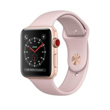 Apple Watch Series 3 - Gps+Cellular - Gold Aluminum Case With Pink Sand ... - $540.47