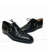 Mens DAVID EDEN Black Lizard Skin and Alligator Leather Oxfords Size 10.5  - $123.74