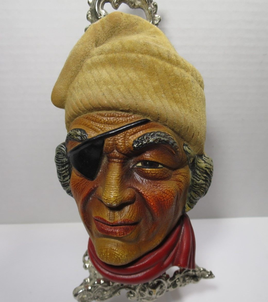 Vintage Head Face Pirate Bucaneer BEAUTYWARE by Fairylite Wall Art