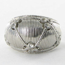 Judith Ripka Gothic Dome Ring 925 Silver White Sapphires Sz 7 New $300 - $223.09