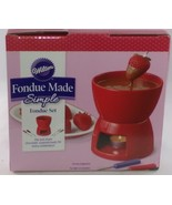 Wilton Fondue Made Simple Fondue Set Red Chocolate Cheese Sweets Valentines - $21.70