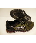 Asics men's gel quantum 360 knit running shoes black martini olive size ... - $148.45
