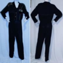 Vintage 1990's Black Jumpsuit ~ One Piece Pantsuit Spencer Alexis ~ Size 10 - $64.99
