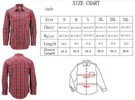 Men's Western Pearl Snap Button Down Casual Long Sleeve Plaid Cowboy Shirt image 2